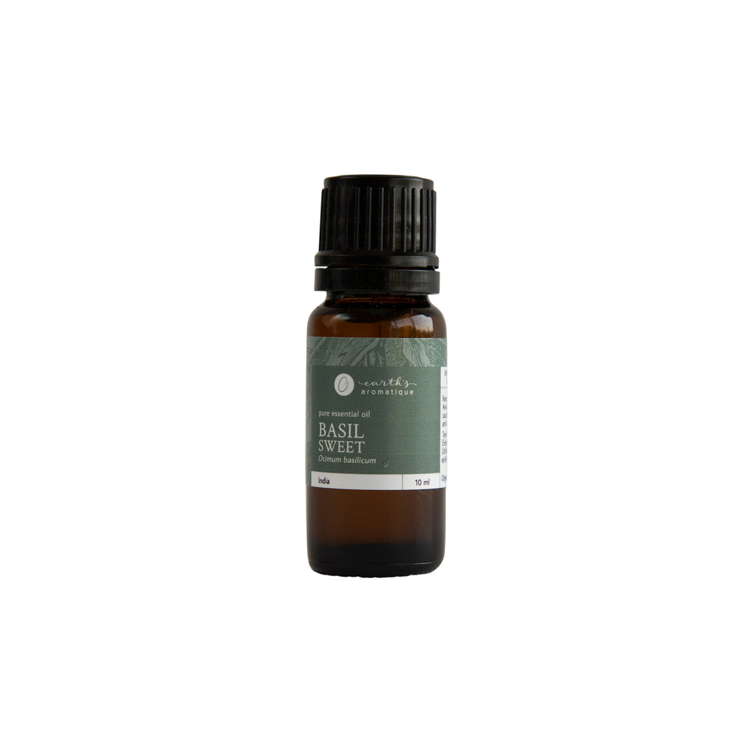 Earth's Aromatique - Basil, Sweet Essential Oil 10ml | Kolya Naturals, Canada