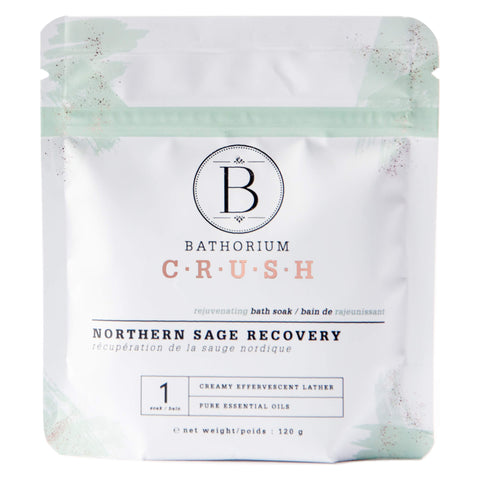 Bag of Bathorium Crush Northern Sage Recovery 120 Grams | Kolya Naturals, Canada