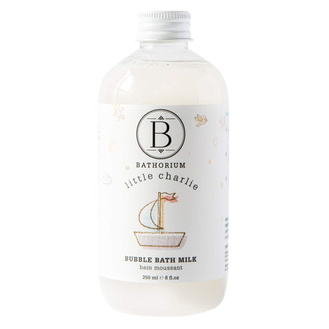 Bottle of Bathorium Little Charlie Bubble Bath Milk 250 Milliliters | Kolya Naturals, Canada