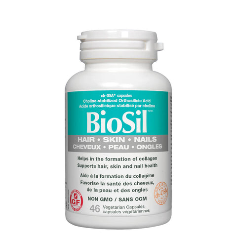 Bottle of BioSil 46 Vegetarian Capsules | Kolya Naturals, Canada