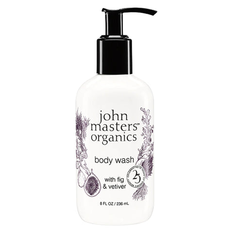 John Master's Organics - Body Wash with Fig & Vetiver 8 Fluid Ounces 236 Milliliters | Kolya Naturals, Canada