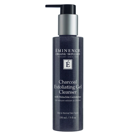 Pump Bottle of Eminence Charcoal Exfoliating Gel Cleanser 5 Ounces