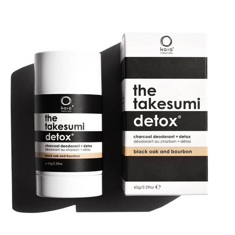 Stick of The Takesumi Detox Charcoal Deodorant Black Oak and Bourbon 65 Grams Full Size