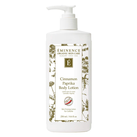 Pump Bottle of Eminence Cinnamon Paprika Body Lotion 250 Milliliters