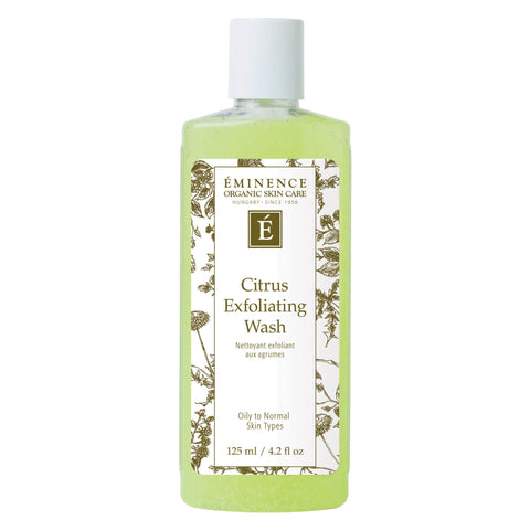 Bottle of Eminence Citrus Exfoliating Wash 125 Milliliters