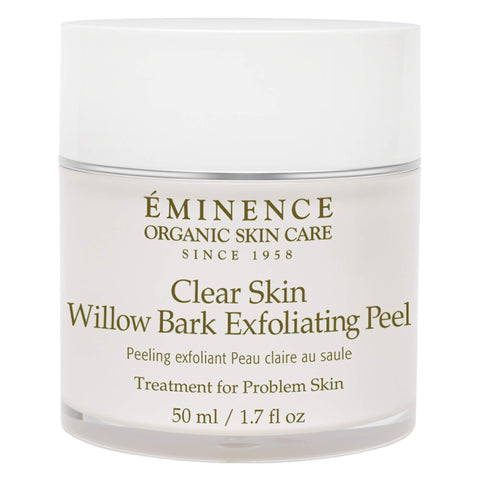 Jar of Eminence Clear Skin Willow Bark Exfoliating Peel 50 Milliliters