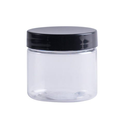 Earth's Aromatique - Clear Glass Jar w/ Black Lid 2oz | Kolya Naturals, Canada