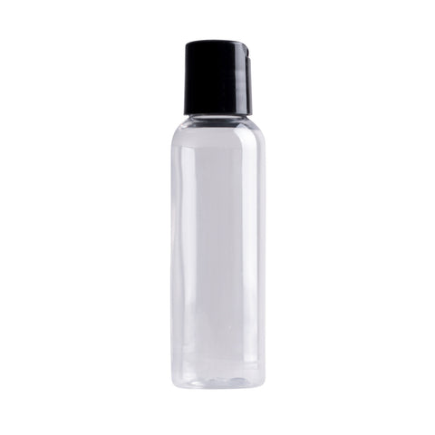 earth's Aromatique - Clear Plastic Bottle w/ Black Disc Cap 2oz | Kolya Naturals, Canada