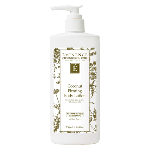 Pump Bottle of Eminence Coconut Firming Body Lotion 250 Milliliters