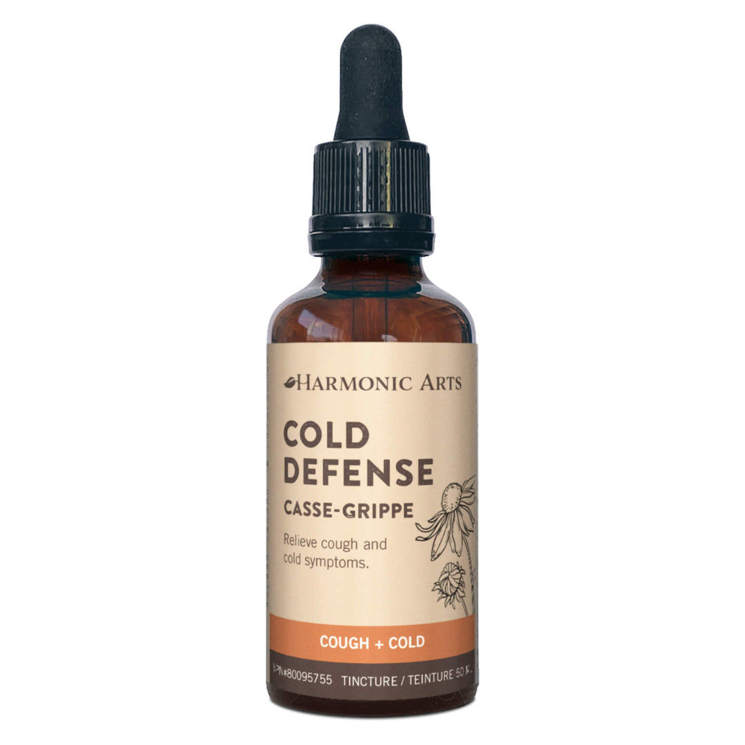 Dropper Bottle of Harmonic Arts Cold Defense Tincture 50 Milliliters | Kolya Naturals, Canada