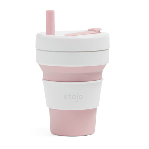 Stojo - Collapsible Biggie Cup Pink/White