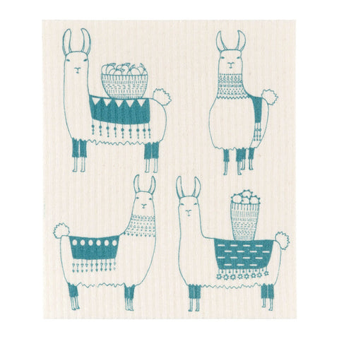 Swedish Cloth with Llama Design