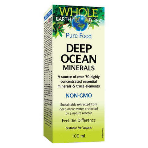 Box of Whole Earth & Sea Pure Food Deep Ocean Minerals 100 Milliliters | Kolya Naturals, Canada