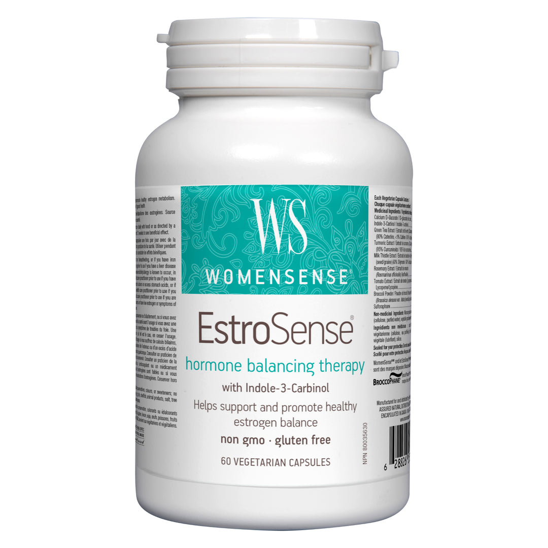 Bottle of WomenSense EstroSense 60 Vegetarian Capsules | Kolya Naturals, Canada