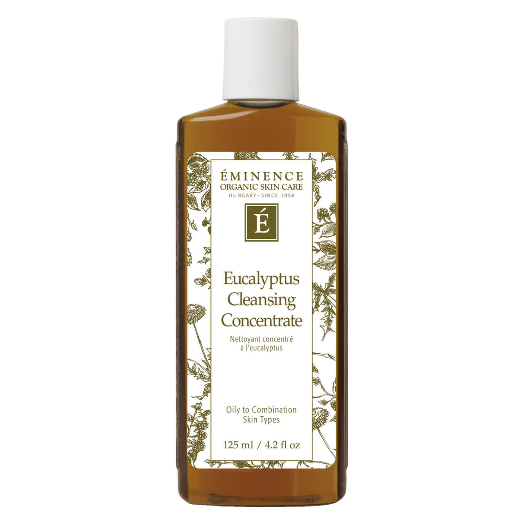 Bottle of Eminence Eucalyptus Cleansing Concentrate 125 Milliliters