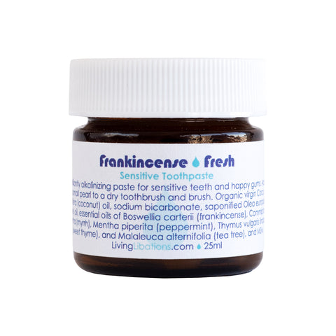 Living Libations - Frankincense Fresh Sensitive Toothpaste 25 mL | Kolya Naturals, Canada