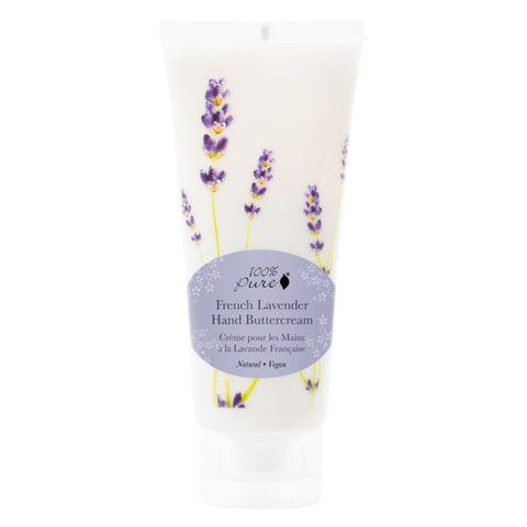 Bottle of 100% Pure French Lavender Hand Butter Cream 57 Milliliters