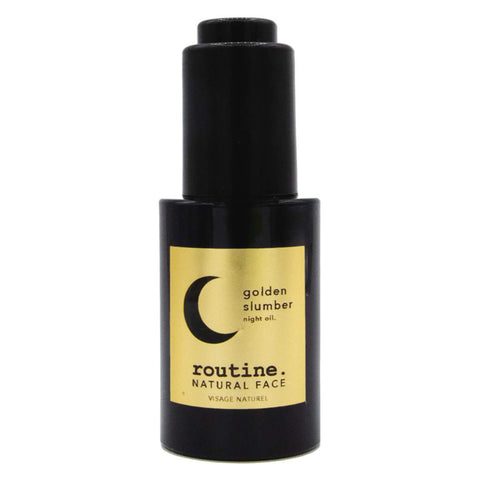 Bottle of Routine Golden Slumber Night Face Oil 30 Milliliters