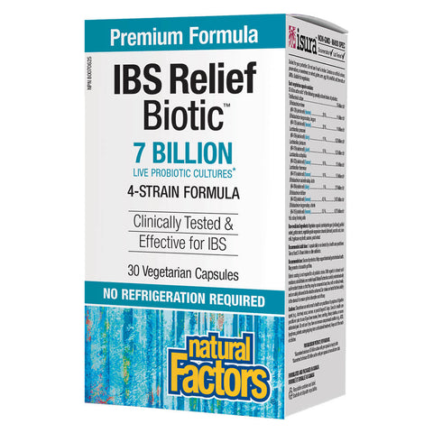 Box of Natural Factors IBS Relief Biotic 30 Vegetarian Capsules | Kolya Naturals, Canada