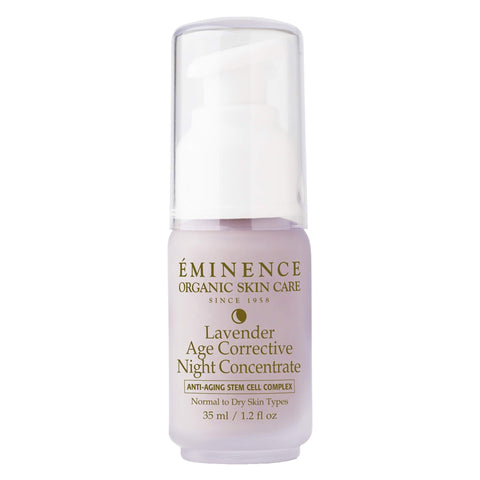 Pump Bottle of Emience Lavender Age Corrective Night Concentrate 35 Milliliters