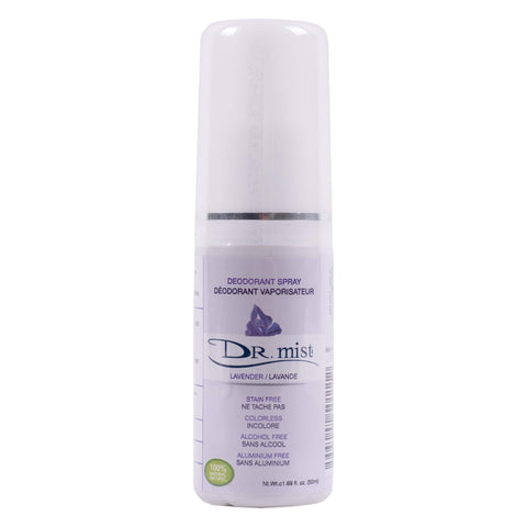 Spray Bottle of Dr. Mist Lavender Deodorant Spray 50 Milliliters