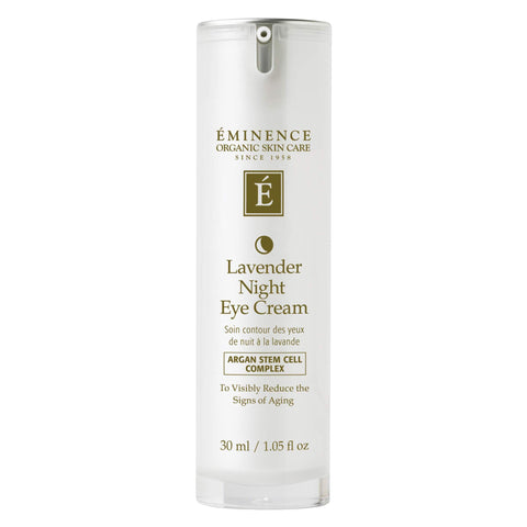 Pump Bottle of Eminence Lavender Age Corrective Night Eye Cream 30 Milliliters