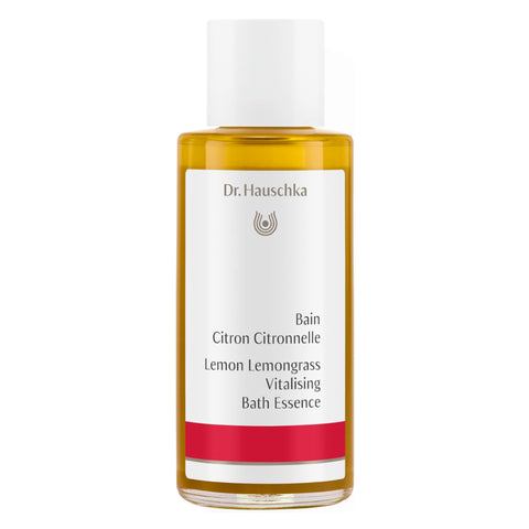 Bottle of Dr. Hauschka Lemon Lemongrass Vitalising Bath Essence 100 Milliliters