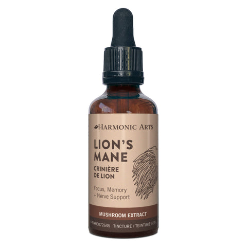 Harmonic Arts - Lion's Mane Focus, Memory + Nerve Support Mushroom Extract Tincture 50 Milliliters | Kolya Naturals, Canada
