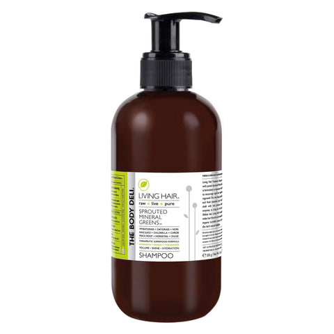 Pump Bottle of The Body Deli Living Hair Shampoo 12 Ounces