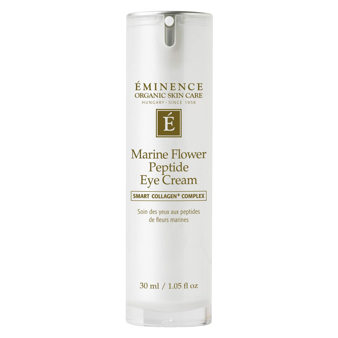 Pump Bottle of Eminence Marine Flower Peptide Eye Cream 1 Ounce