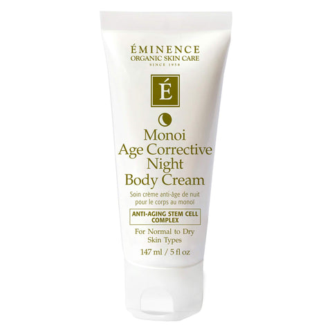 Bottle of Eminence Monoi Age Corrective Night Body Cream 147 Milliliters
