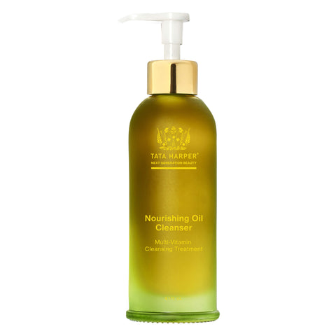 Pump Bottle of Tata Harper Nourishing Oil Cleanser 4.1 Ounces