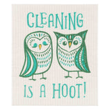 "Now Designs Swedish Cloth Owls Design ""Cleaning is a Hoot"""