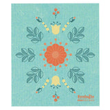 Now Designs Swedish Cloth Teal with Floral Design