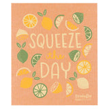 "Now Designs Swedish Cloth Peach with Citrus Design ""Squeeze the Day"""