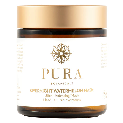 Jar of Pura Botanicals Overnight Watermelon Mask 4 Ounces