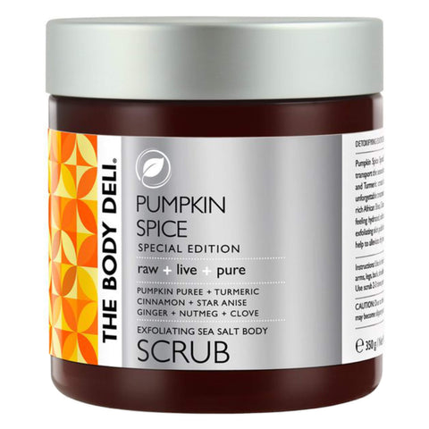 Jar of The Body Deli Pumpkin Spice Body Scrub 350 Grams