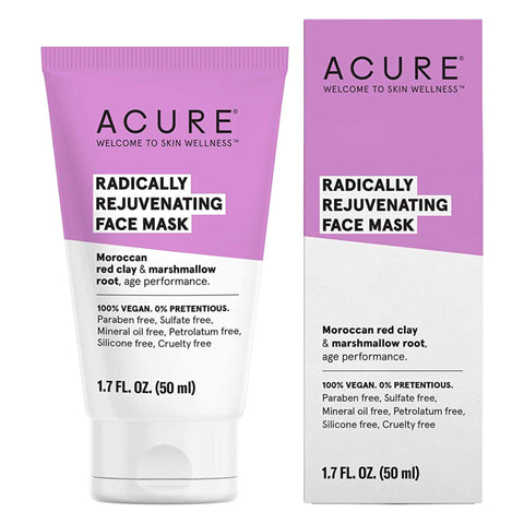 Box and Bottle of Acure Radically Rejuvenating Face Mask 1.7 Fluid Ounces