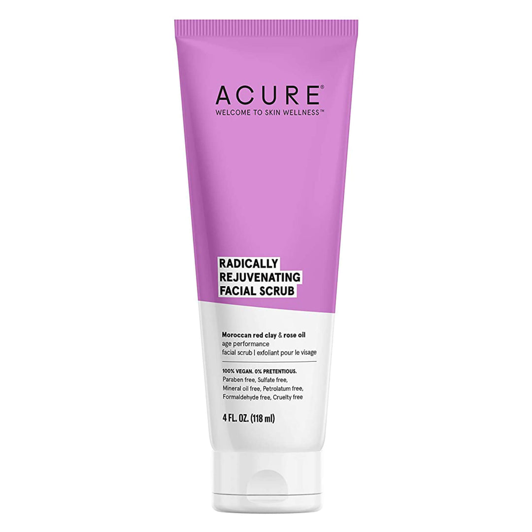 Bottle of Acure Radically Rejuvenating Facial Scrub 4 Fluid Ounces