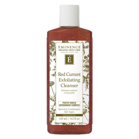 Bottle of Eminence Red Currant Exfoliating Cleanswer 125 Milliliters