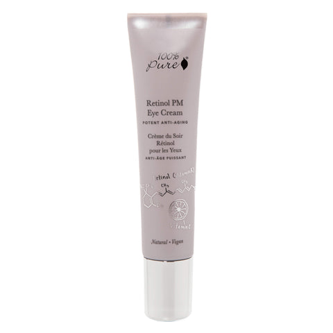 Bottle of 100% Pure Retinol PM Eye Cream 15 Milliliters