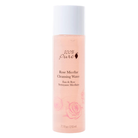 Bottle of 100% Pure Rose Micellar Cleansing Water 210 Milliliters