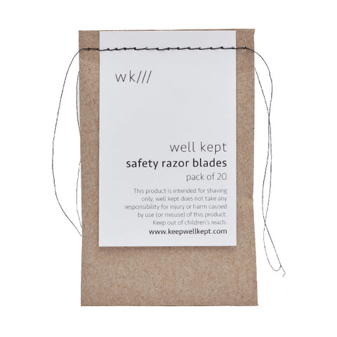 Bag of Safety Razor Blades 20 Pack