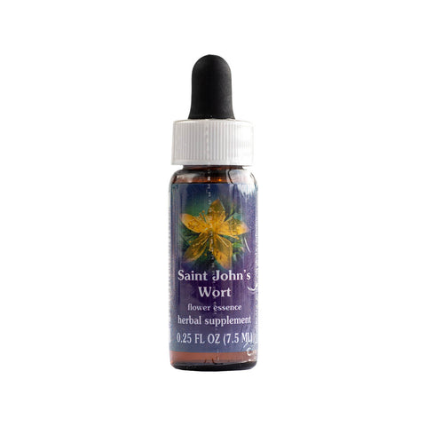 Dropper Bottle of Saint John's Wort Flower Essence 0.25 Fluid Ounces
