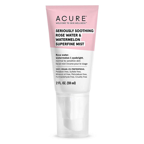 Spray Bottle of Acure Seriously Soothing Rose Water & Watermelon Superfine Mist 2 Fluid Ounces