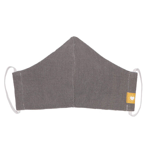 Now Designs Cotton Face Mask Shadow Grey Ear Straps