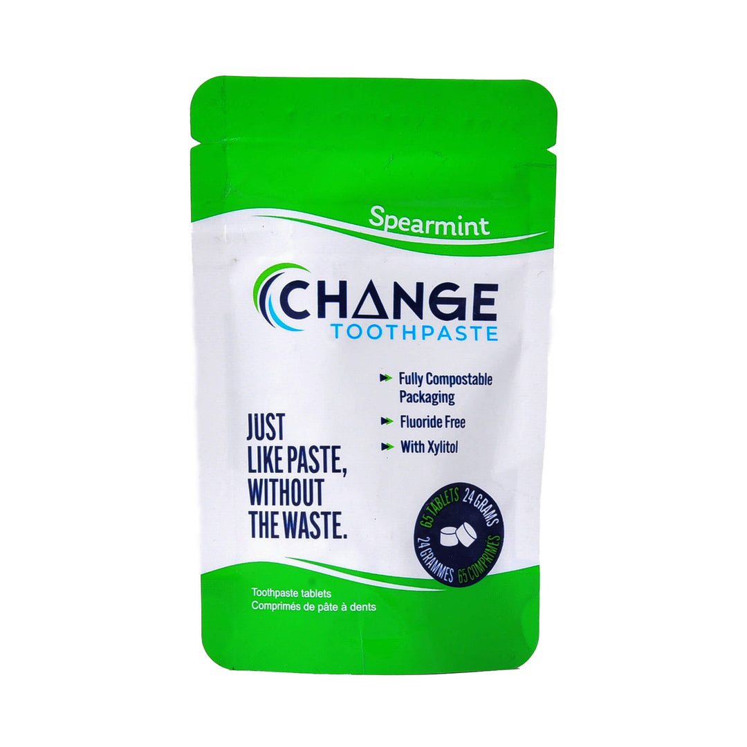 Change Toothpaste Spearmint Toothpaste Tablets 65 Tablets 24 Grams | Kolya Naturals, Canada