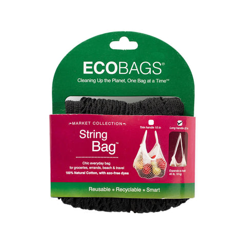 Eco-Bags String Bag (Long Handle) Black