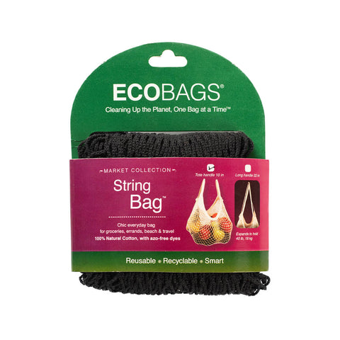 Eco-Bags String Bag (Tote Handle) Black