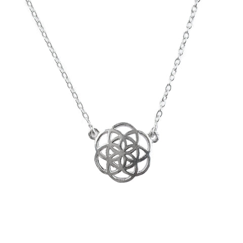 Sweet Seed of Life Necklace - Sterling Silver
